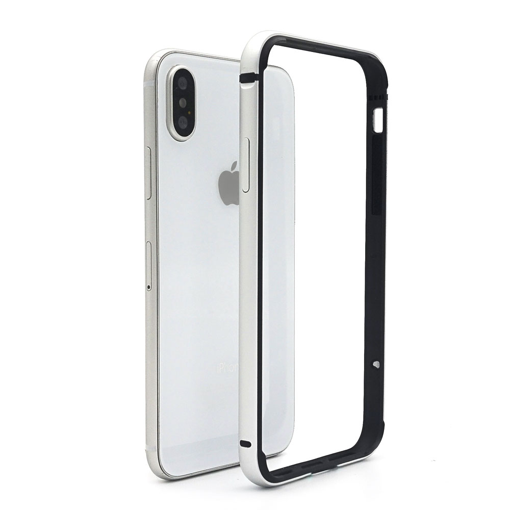 Ascromy For iPhone X Bumper Case Aluminium Metal Frame Silicone TPU Cover Bumper For iPhone XS Max XR 6.1 6.5 Coque Accessories (2)