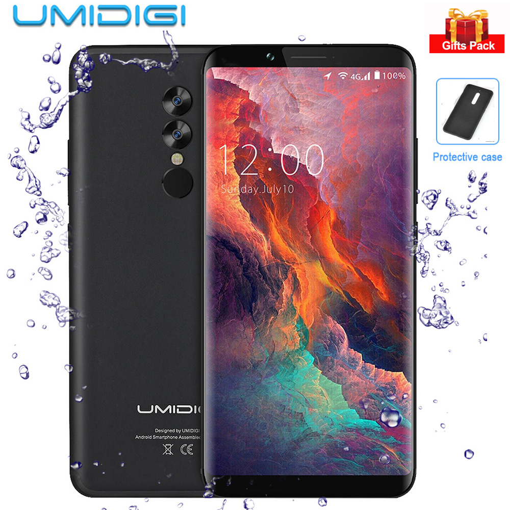 UMIDIGI S2 Pro Face ID Android 7,0 6,0 ''18:9 Экран 16MP Helio P25 Восьмиядерный 6 ГБ + 128 ГБ двойной сзади камеры 4 г мобильный телефон 5100 мАч
