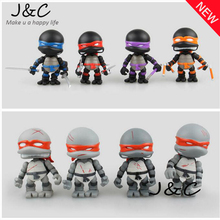 Free Shipping 2016 Hot sale 4Pcs/lot Teenage Mutant Ninja Turtles TMNT Action Figures Toy Set Classic Collection for gifts