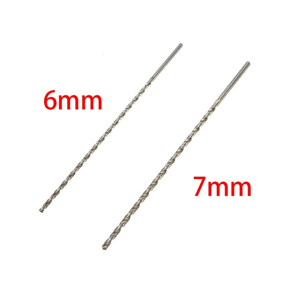 HSS Auger Twist Drill Bit Set 6/7mm Diameter 350mm Extra Long Straight Shank Drill Bits For Electric Drills