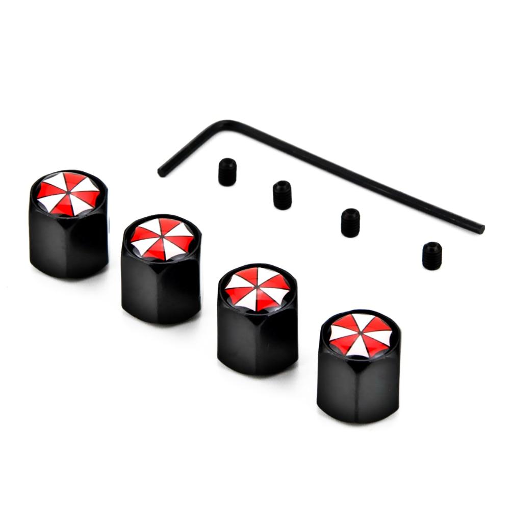 4 Pcs Anti-Theft Tire Valve Caps Covers Umbrella Corporation Car Accessories For Citroen C5 C4 Picasso Xsara Berlingo Elysee