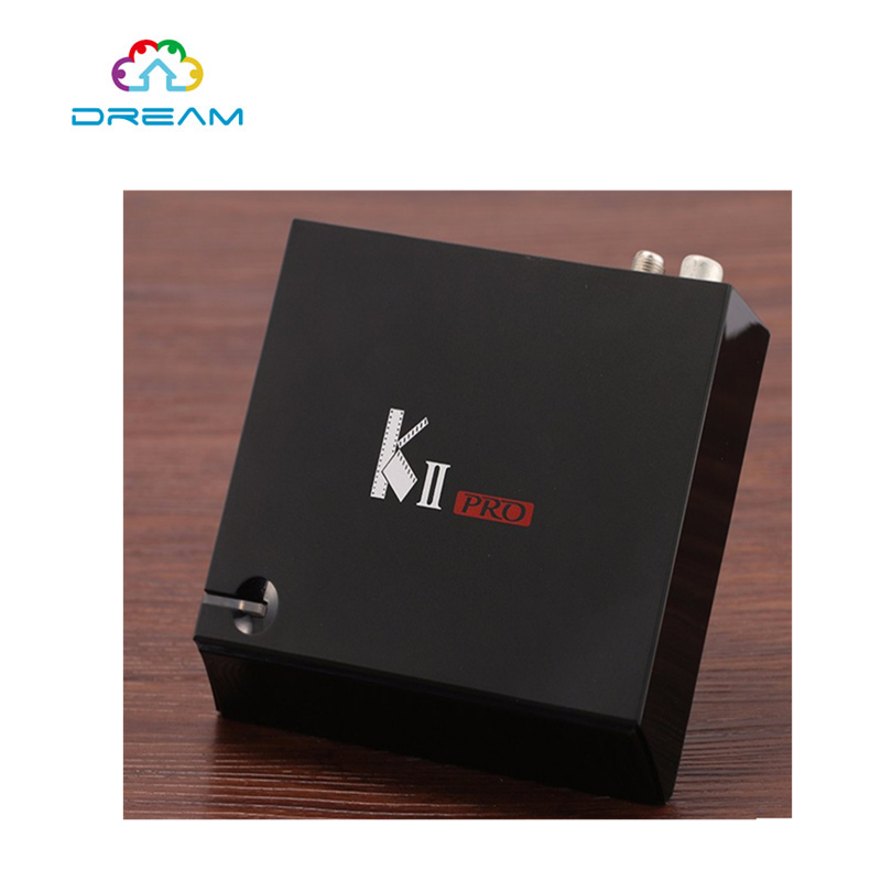 KII Pro 2GB/16GB DVB S2+T2 Android TV Box Pre-installed Amlogic S905 Quad-core Support DVB-S2/ DVB-T2 Smart Media Player m8 fully loaded xbmc amlogic s802 android tv box quad core 2g 8g mali450 4k 2 4g 5g dual wifi pre installed apk add ons