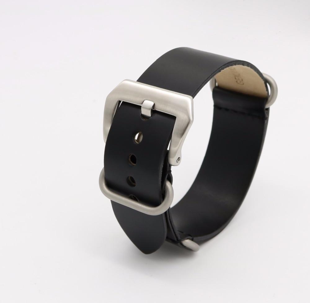 24mm Lumină maro închis Negru Verde Roșu VINTAGE Bandă ceas curea - Accesorii ceasuri - Fotografie 6