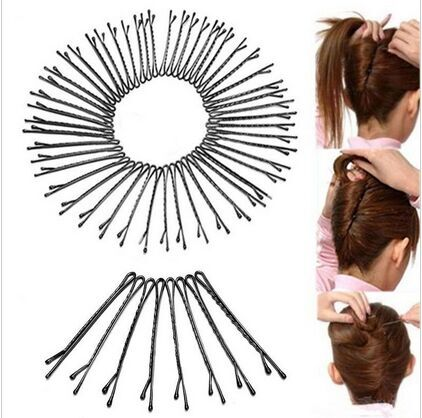 2018 Special Offer New Women Adult Fashion Solid 60pcs/lot Popularity Simple Alloy Hair Clip Bobby Pin Accessories Headwear
