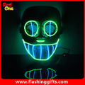 EL flashing mask two colors mix  Green and Blue EL party led mask pvc DJ dance mask mask party favors