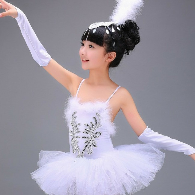 Children Ballerina Dress Kids Ballet Dress Dancewear Dance Dress For Girl Professional White Swan Lake Ballet Tutu Costume Girls
