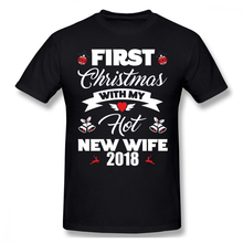 Hot Wife T Shirt First Christmas With My New 2018 Gift T-Shirt Cute Cotton Tee 6xl Basic Mens Tshirt