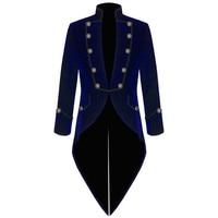 Velvet Blue Swallow Tailed Coat Custom Made Fashion Mens Suits Formal Prom men suit Blazer Latest Coat Pant 2017 Jacket+Pant