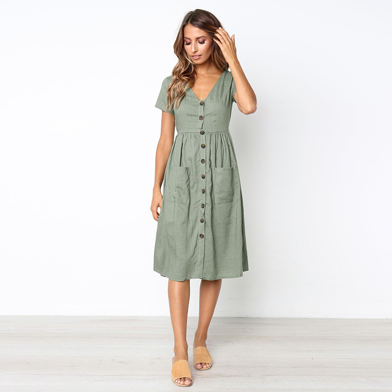 afb347d94 Simplee Sexy blanco vestido de verano para mujer 2019 sin espalda cuello en  v volantes algodón