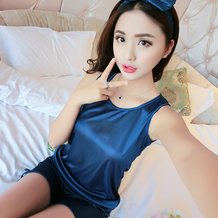 2018 Sleveless Ladies Pajamas Set Cotton Pyjamas for Women Pijama Mujer Floral Print Sleepwear Homewear Nightgown Asia/Tag S-XXL