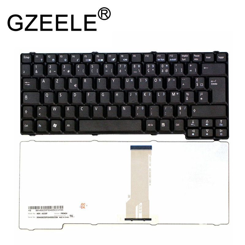 GZEELE New for Acer for Aspire 1360 <font><b>1500</b></font> 1620 1660 for Travelmate 200 210 220 240 250 French Francais Keyboard Clavier FR Azerty image