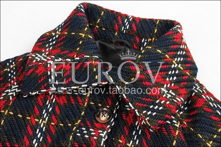 Haute Qualité Jacket2018new Weave Court Femmes Designer De Manteau Classique Down Hiver Vintage Britannique Mode Plaid Col Turn qdtwpwBnxE