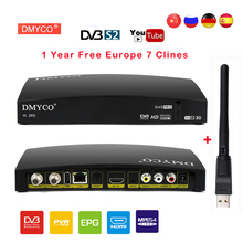DMYCO D4S PRO Receptor DVB-S2 HD FTA Satellite TV Receiver With 1 Year 7 Clines for Europe+USB WIFI 1080P lnb Portugal Polish TV