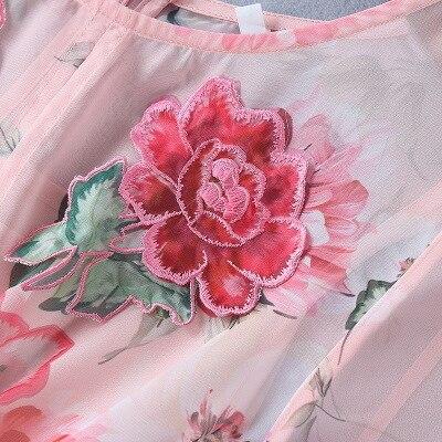 Élégante Pour Femmes Manches Floral De Vaction Arc Les Robe Soie Midi Boho Mousseline Broderie Plage D'été 2018 En Flare ZTwqBI4w