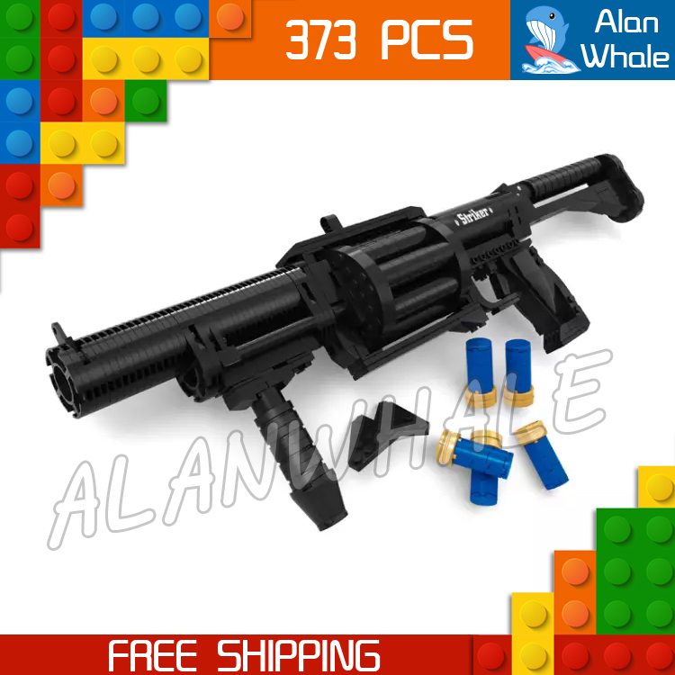 373pcs New Model Toy Shot Gun Weapon For Military Assault Soldiers Building Kit Blocks Toys Shell Brick Compitable with Lego