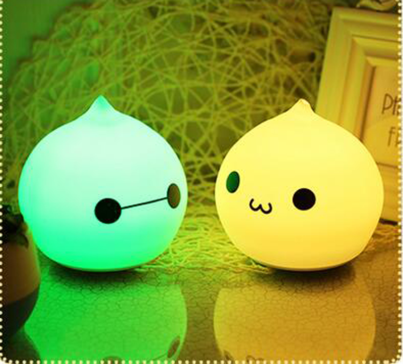 T Lovely 7 Color Night Light Silicone Soft Cartoon font b Baby b font Nursery Lamp
