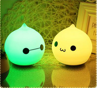 T Lovely 7 Color Night Light Silicone Soft Cartoon Baby Nursery Lamp Mini Hand Touch Cute