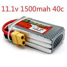 Original Power LiPo Battery 11.1V 1500Mah 3S 40C MAX 60C T Plug For RC Car Airplane Helicopter Drop Free shipping