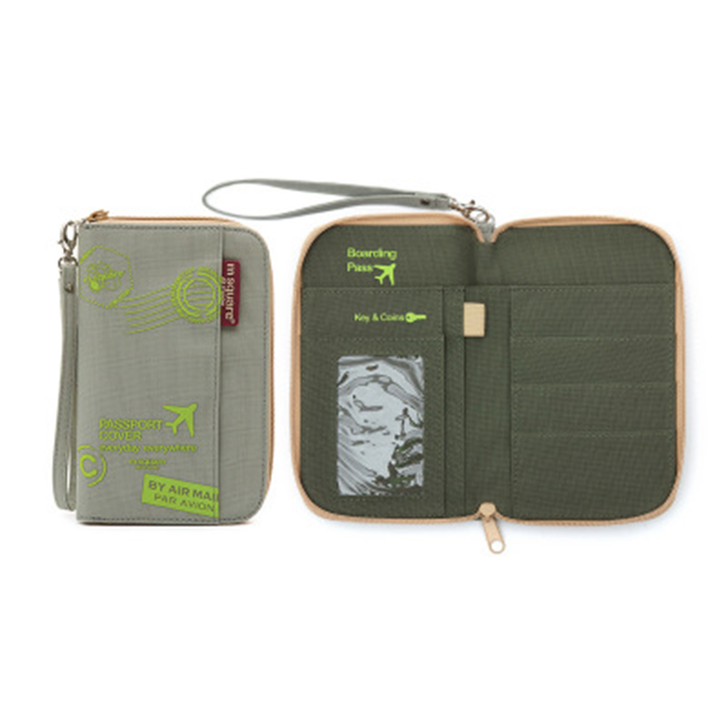 Big-time Passport Wallet,Multi-Function Document Package Large Capacity Card Bag Travel Passport Package Flight Storage Bag for Travel
