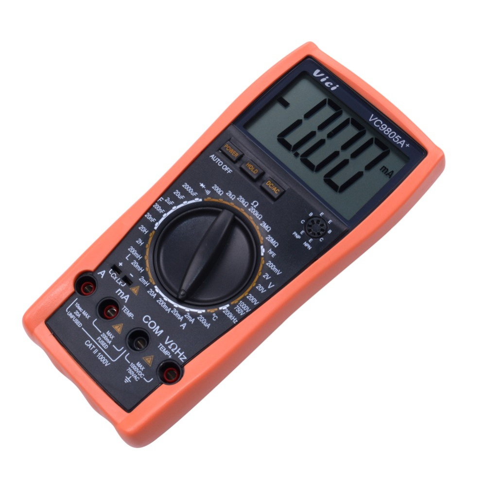 VICI VC9805A+ Digital Multimeter DMM LCR Meter W/Temperature Inductance Capacitance Frequency Tool стоимость