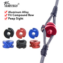 5pcs Archery Peep Sight 3/16 1/8 Aluminum Alloy Bow Sight Scope Fit Outdoor Compound Bow Hunting Shooting Aiming Accessories archery cable slide bow string separator aluminum metal d loop 1 8 3 16 peep sight set compound bow outdoor shooting accessories