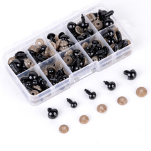 Practical DIY Doll Eye 100pcs Black Plastic Safety Eyes for Teddy Animal Plush Puppet Crafts 6/8/9/10/12mm
