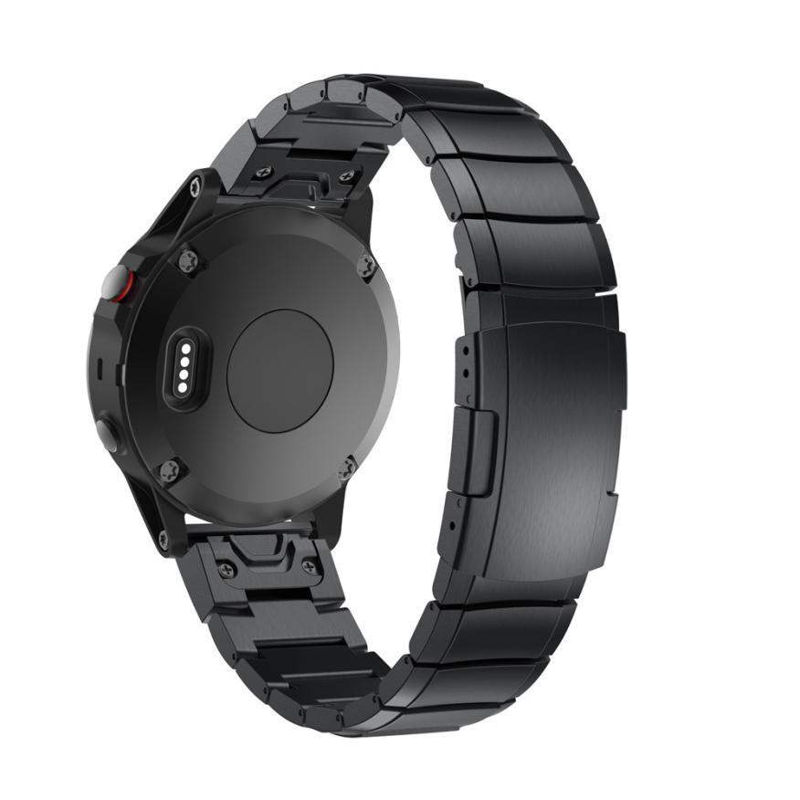 CARPRIE Bande de Montre Véritable Bracelet En Acier Inoxydable Rapide Fit De Remplacement de Courroie De Bande Bracelet Pour Garmin Fenix 5S GPS WatchDE12