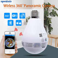 Ampoule lampe sans fil IP caméra Wifi 960P panoramique FishEye sécurité à domicile CCTV caméra 360 degrés Vision nocturne