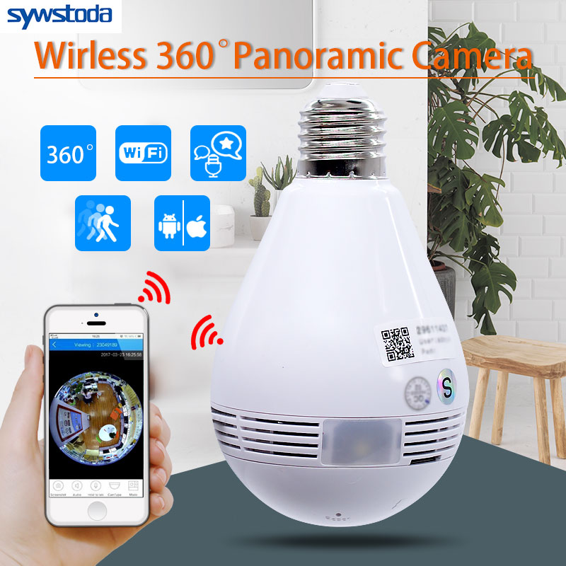 Bulb Lamp Wireless IP Camera Wifi 960P Panoramic FishEye Home Security CCTV Camera 360 Degree Night Vision led bulb lamp wireless ip camera wifi 1080p panoramic fisheye home security cctv camera 360 degree night vision