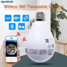 Лампа Беспроводная IP камера Wifi 960P панорамная рыбий глаз домашняя охранная CCTV камера 360 градусов ночное видение