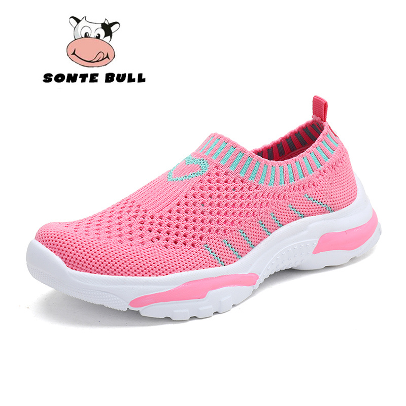 2019 Spring Summer New Kids Shoes Breathable Light Casual Children Shoes Fashion Soft Flat Girls Sneakers Size 28 38|Sneakers| |  - title=