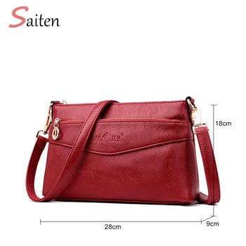 45c16f169 De moda de cuero de la PU de las mujeres bolsos de mano retráctil de la  correa de hombro, bolsos de mensajero, doble de alta calidad correa de hombro  bolsas ...