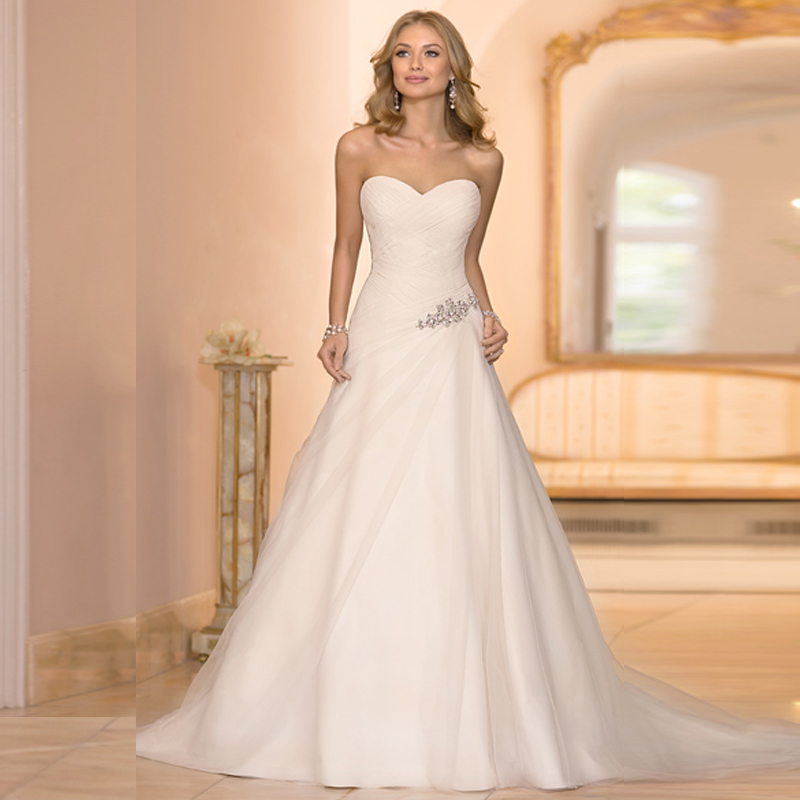 Under$100 2016 Spring New Sweetheart Soft Organza Pleats Ruches ...
