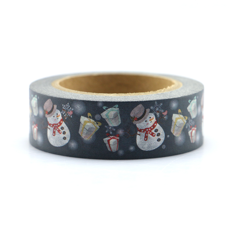 15mm*10m Christmas Santa Claus Decorative Adhesive Tape Masking Washi Tape DIY Scrapbooking Sticker Label Japanese Stationery