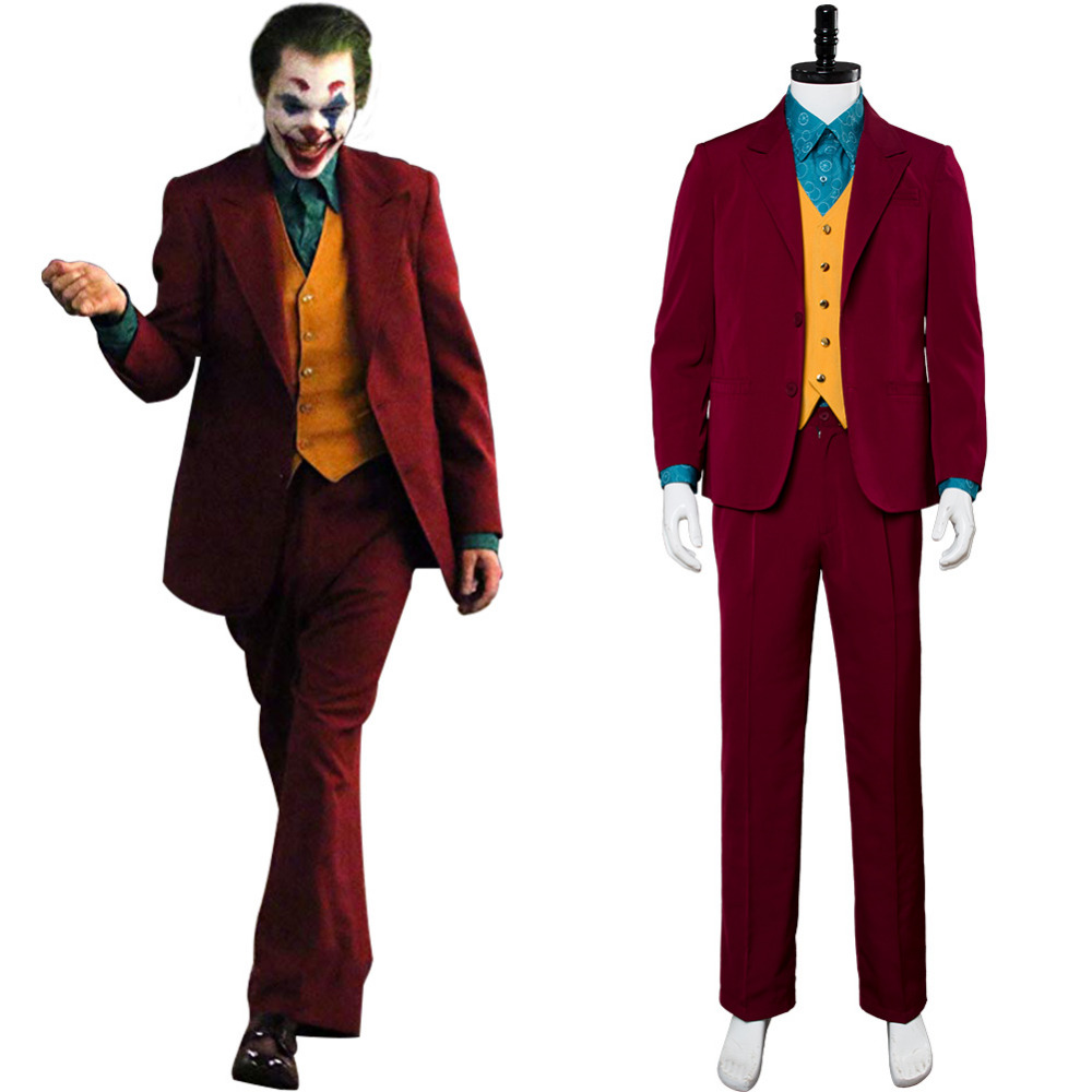 Batman Joker 2019 Costume Joaquin Phoenix Outfit Cosplay Costume Adult Men