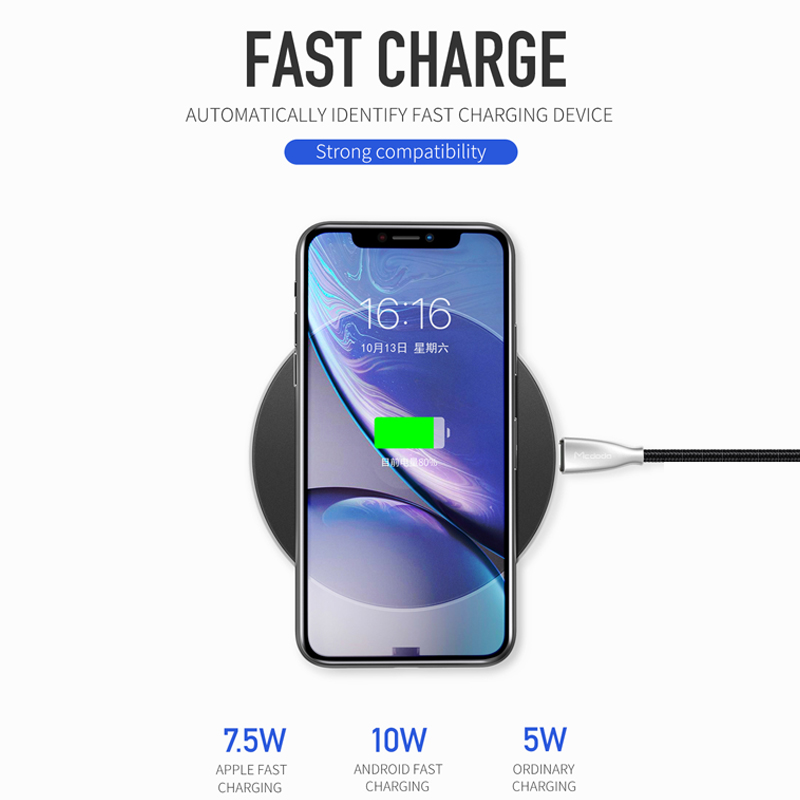 Mcdodo 10W Qi Wireless Charger Light For Samsung S9 S8+ Huawei Mate 20 Pro  Fast Charging Wireless Pad For iPhone X Xr Xs Max 8