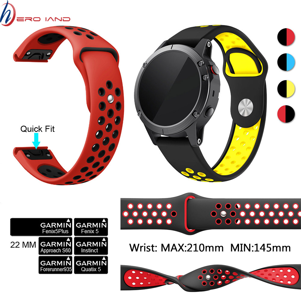 Soft Silicone Watchband For Garmin Fenix 5 5 Plus Silicone Band 22mm Strap Quick Fit For Garmin Forerunner 935 945 Watch Strap