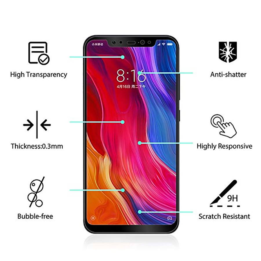 WK Full Coverage Hydrogel Screen Protector For Xiaomi 8 Anti Scratch Fingerprint Full Glue Protective Soft film For Xiaomi 8 SE in Phone Screen Protectors from Cellphones Telecommunications