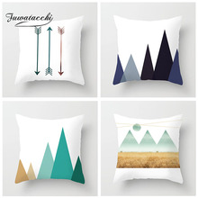 Fuwatacchi Geometric Cushion Covers Gradient Mountain Arrow Pillow Cover For Home Sofa Room Decorative  White Pillowcases
