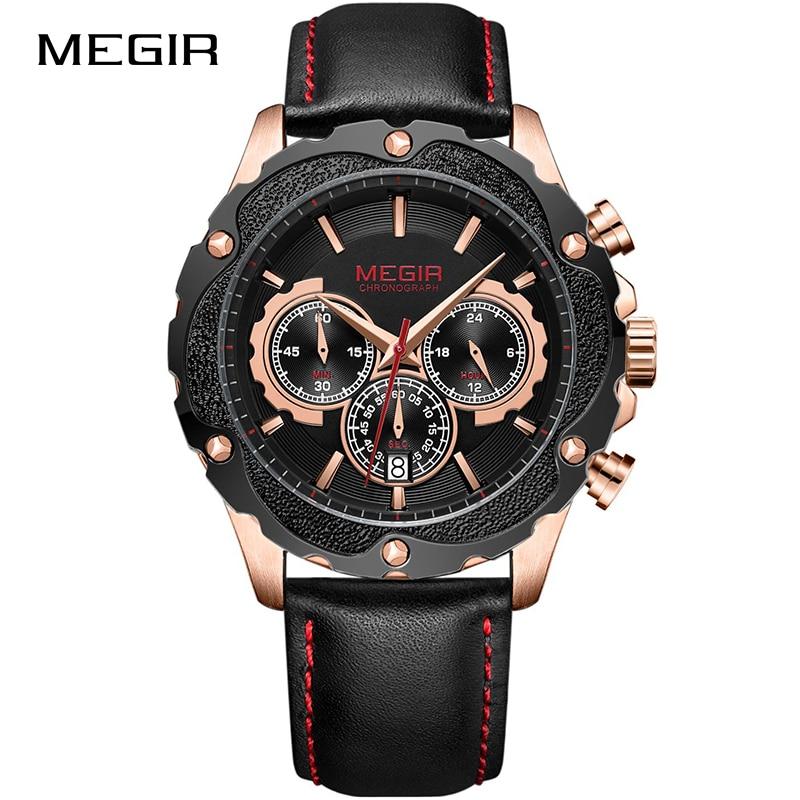 MEGIR Top Brand Creative Military Sports Watches Men Fashion Quartz Wrist Watch Waterproof Chronograph Clock Relogio Masculino цена в Москве и Питере
