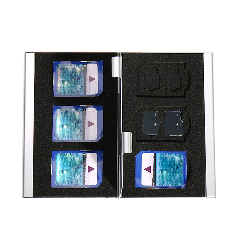 202 metal storage case protection double TF package for 12TF cards 6 SD card box (with carton packaging)