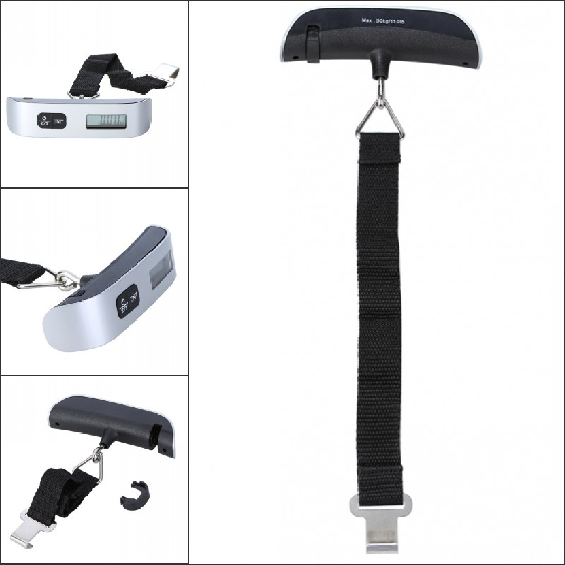 Luggage Scale Electronic Digital Scale Portable Suitcase Travel Bag Hanging Scales Balance Weight Thermometer LCD Display 50kg useful portable 50kg lcd display digital hanging scales electronic weight fishing hook scale black kitchen scales