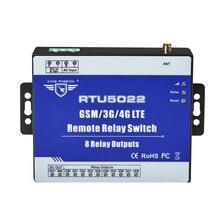 Gsm interruptor de relé remoto sms controle de alarme por sms app temporizador para controle da bomba luz rua com 8 saídas relé rtu5022