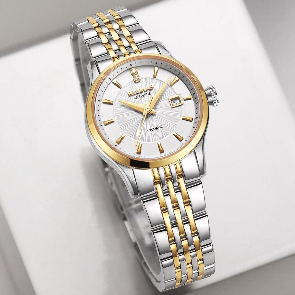 Ruimas zegarek damski 패션 여성 골드 시계 2018 기계 여성 시계 럭셔리 클래식 숙녀 손목 시계 여성 시계-에서여성용 시계부터 시계 의  그룹 1
