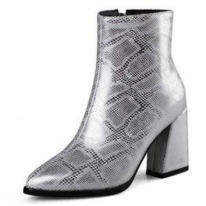 Image 4 - FEDONAS موضة جديدة مثير الحيوان يطبع بولي Leather جلد النساء حذاء من الجلد 2021 الخريف الشتاء جديد أشار تو عالية الكعب تشيلسي الأحذية