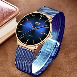 Image 3 - Часы наручные LIGE женские кварцевые, модные брендовые Роскошные спортивные водонепроницаемые полностью стальные
