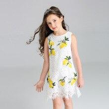 Roimyal/ ; ; Новинка года; сезон лето; европейский и американский стиль; модное кружевное платье принцессы с лимонами; Детский сарафан