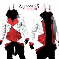 Assassins creed 3 cosplay del anime Assassins creed chaqueta cosplay disfraces ropa cosplay para adultos para Los Hombres