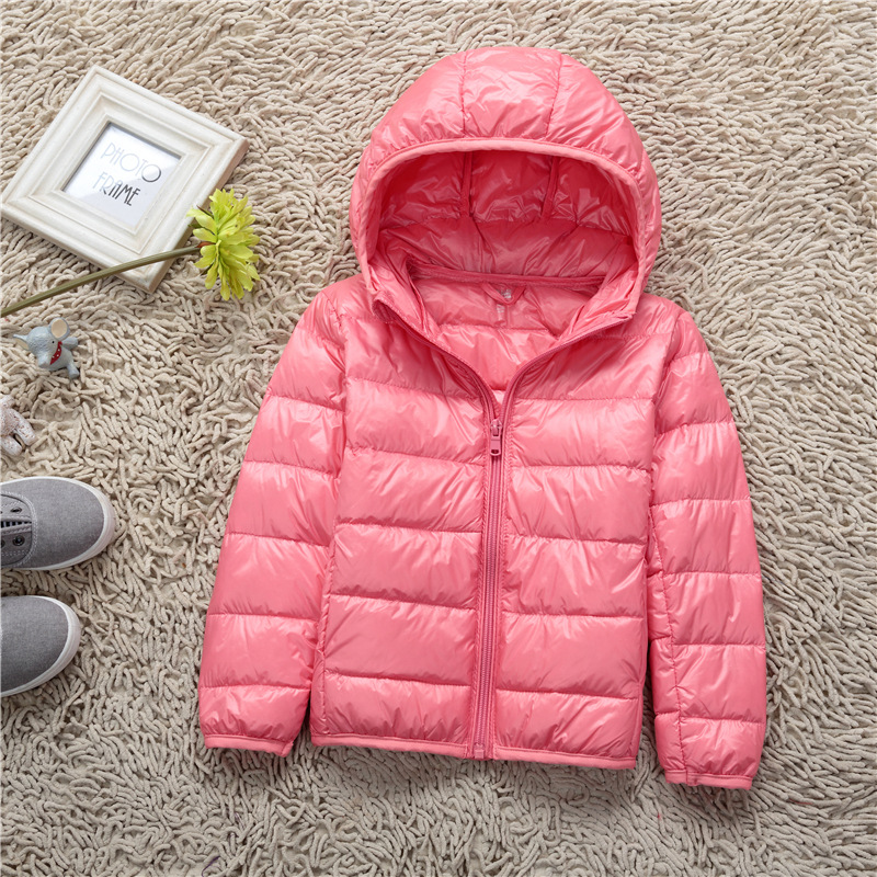 Children's white duck down jacket hooded Korean version of the 2018 new children's clothing men's and women's down jacket MF-100 2017 winter down jacket male korean version of self cultivation hooded thick in the long fashion trend of youth style downjacket