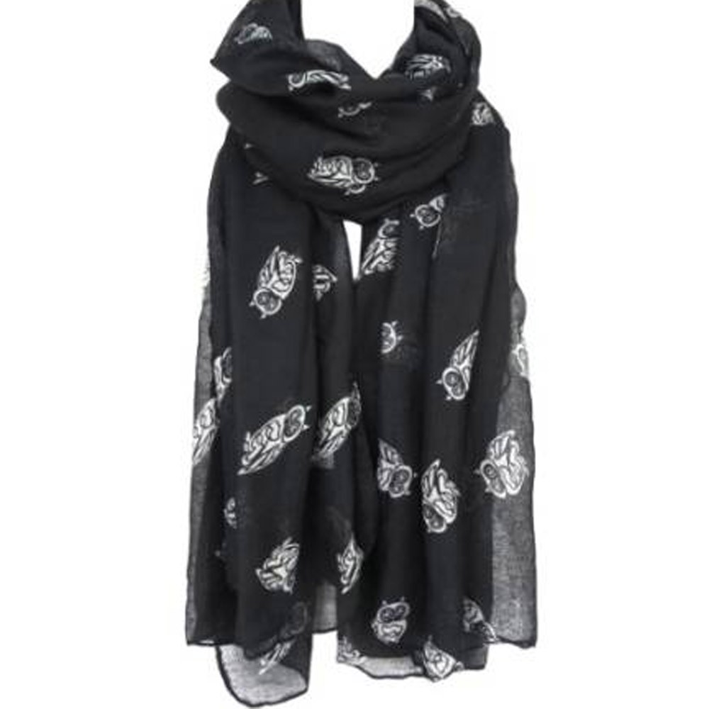 Apparel Accessories Creative Women Lady Panda Printes Shawl Voile Rectangle Scarves New Fashion High Quality Girls Cute Shawl Soft Scarves In Two Colour Warm